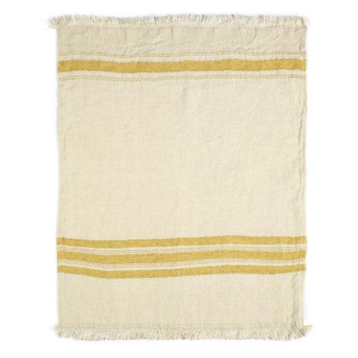 The Belgian towel,110x180cm, Mustard Stripe